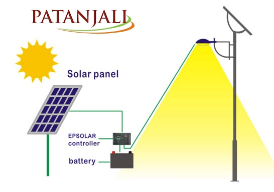 patanjali solar street light price in india