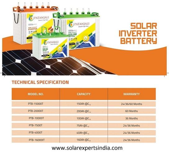 Patanjali solar battery