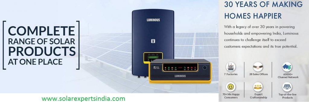luminous solar products price list 2019