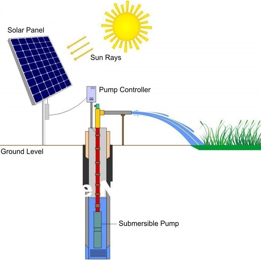 solar water pump system price in india 2019